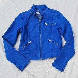 NWOT Paper Denim & Cloth 16865 Denim Moto Jacket